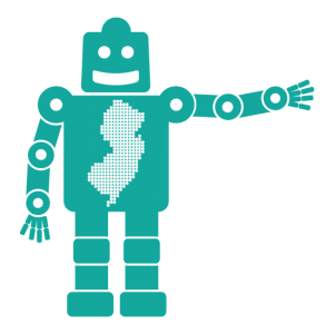 NJ Maker Day robot logo